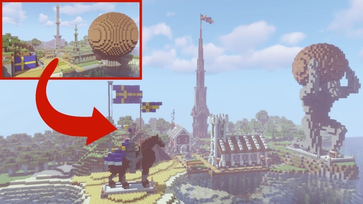 PewDiePie's 10 Best Minecraft Builds: Water Sheep, Iconic Minecraft Moments, IKEA Tower, the Meatball and More!