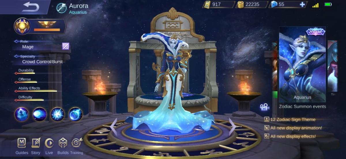 Aurora's Aquarius Skin