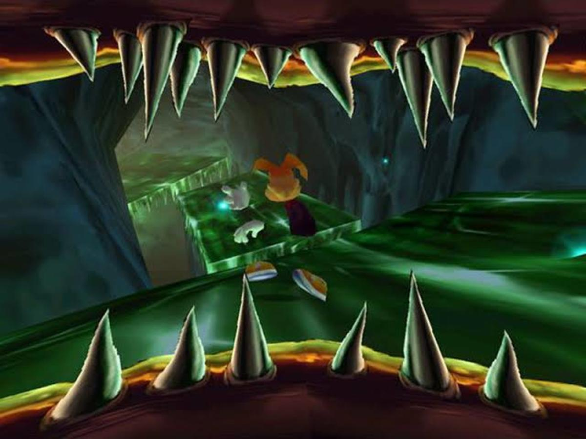 """Rayman 2"" was full of spooky moments, but the Cave of Bad Dreams takes the cake."