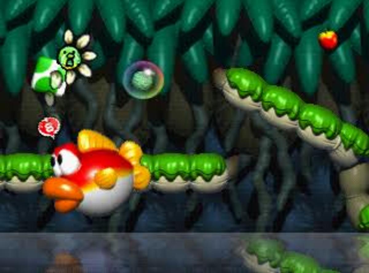 Being eaten by Blurp instantly kills poor Yoshi.