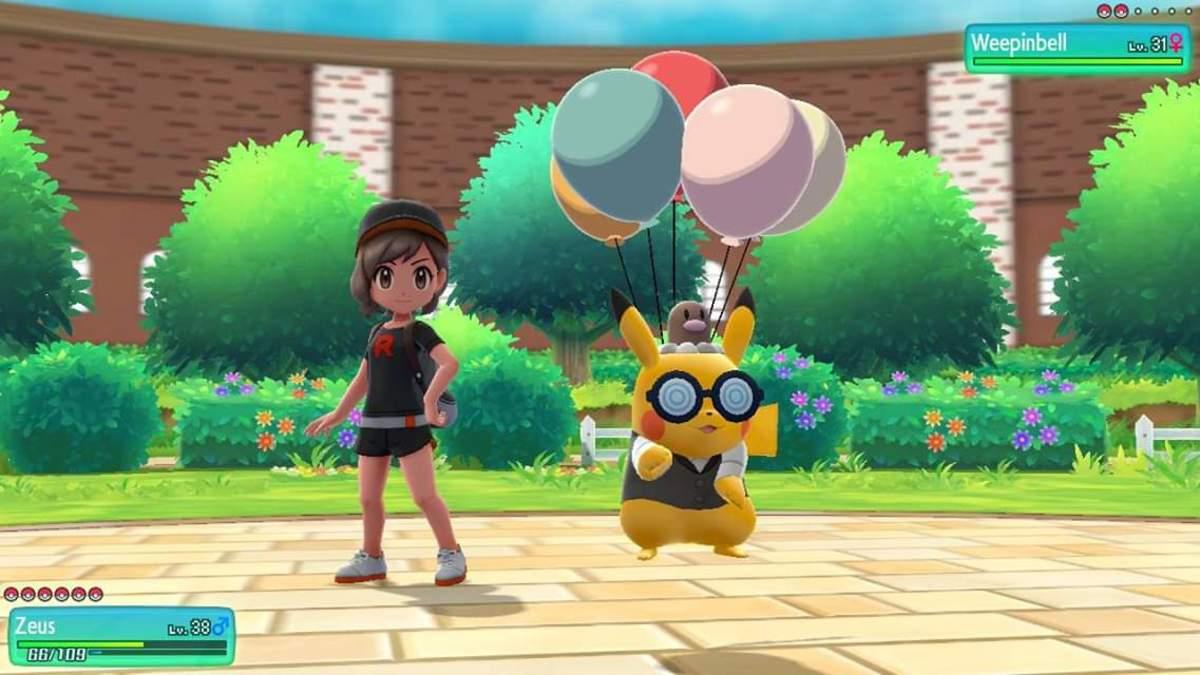 Partner Pikachu using Floaty Fall