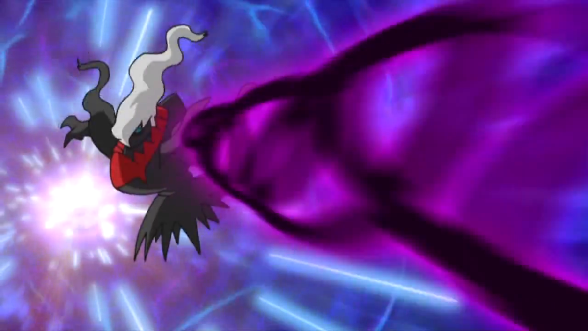 Darkrai using Dark Pulse