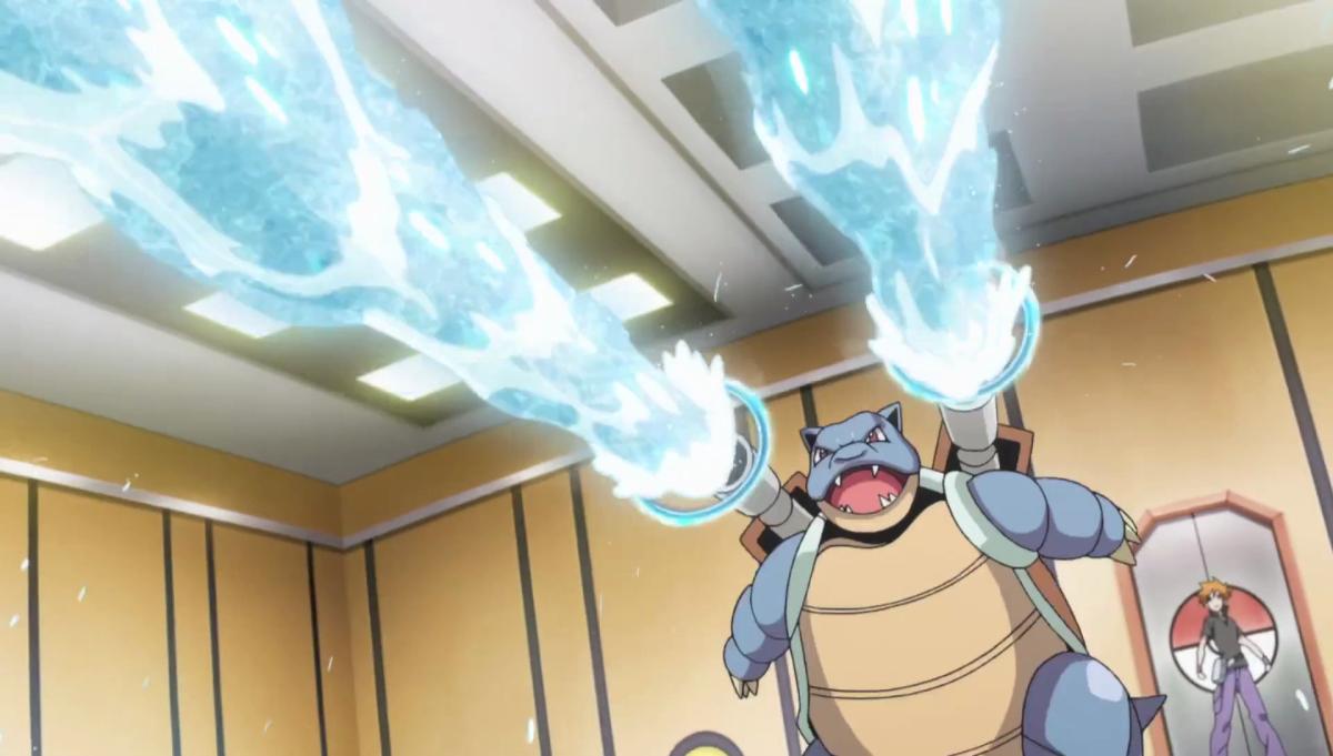 Blastoise using Hydro Pump