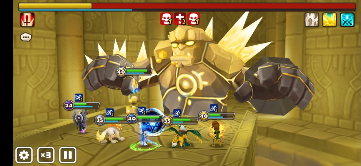 Using skill effects changes the course of a battle.