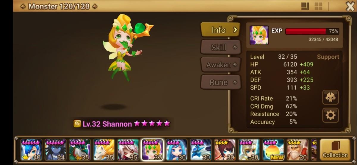 Shannon Monster Info
