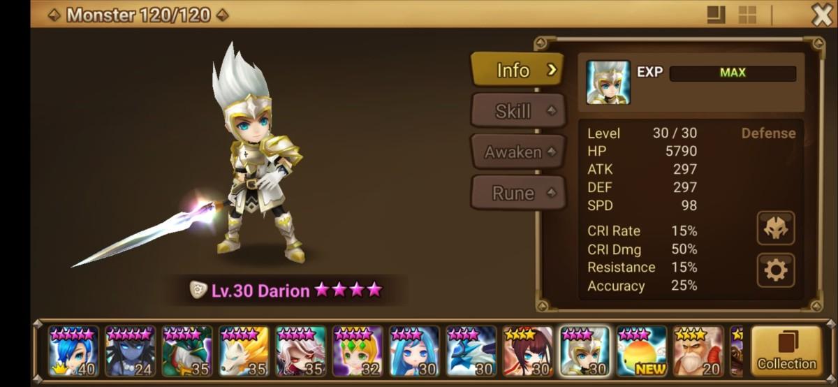 Darion Monster Info