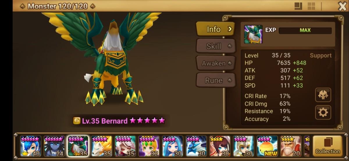 Bernard Monster Info