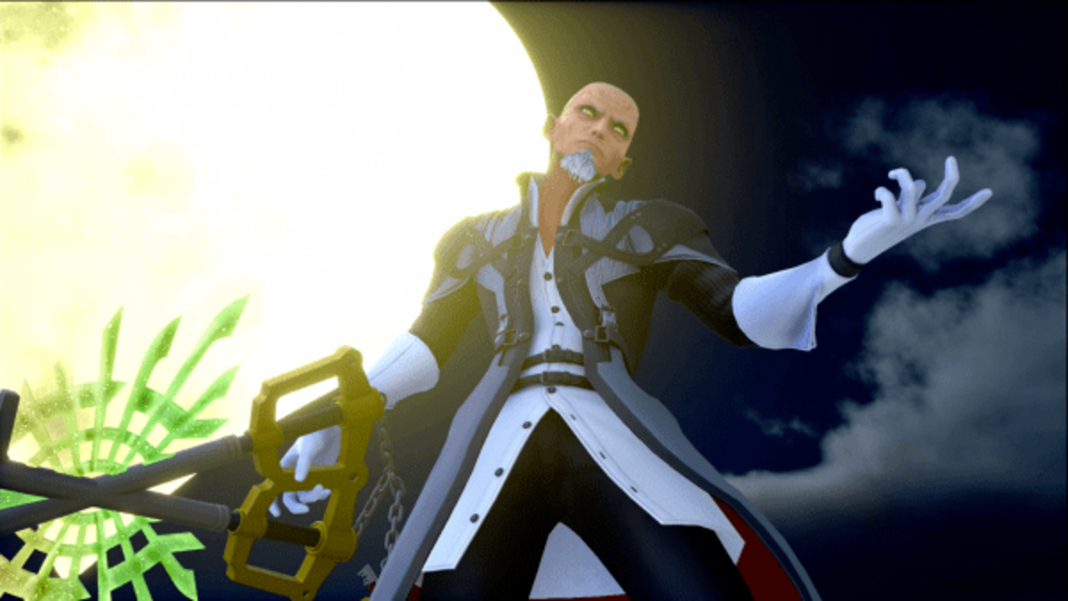 Master Xehanort with the χ-blade