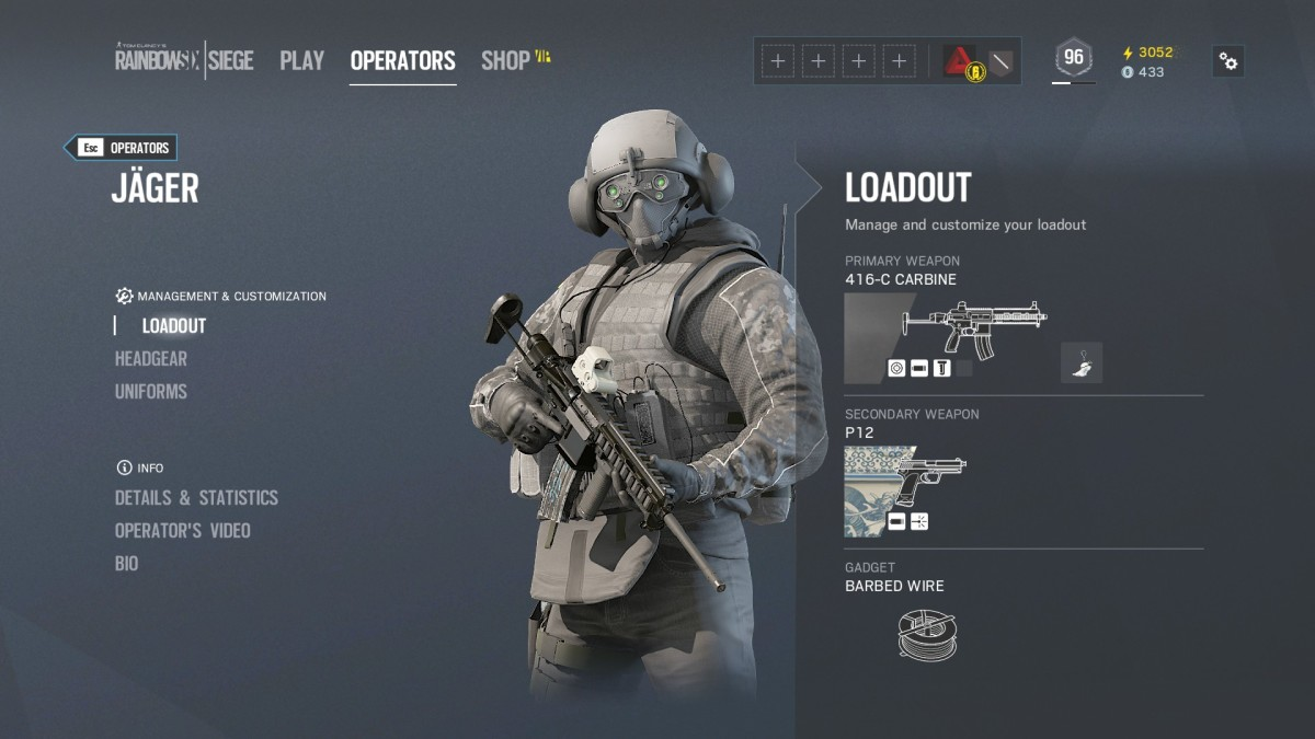 Jager's Loadout