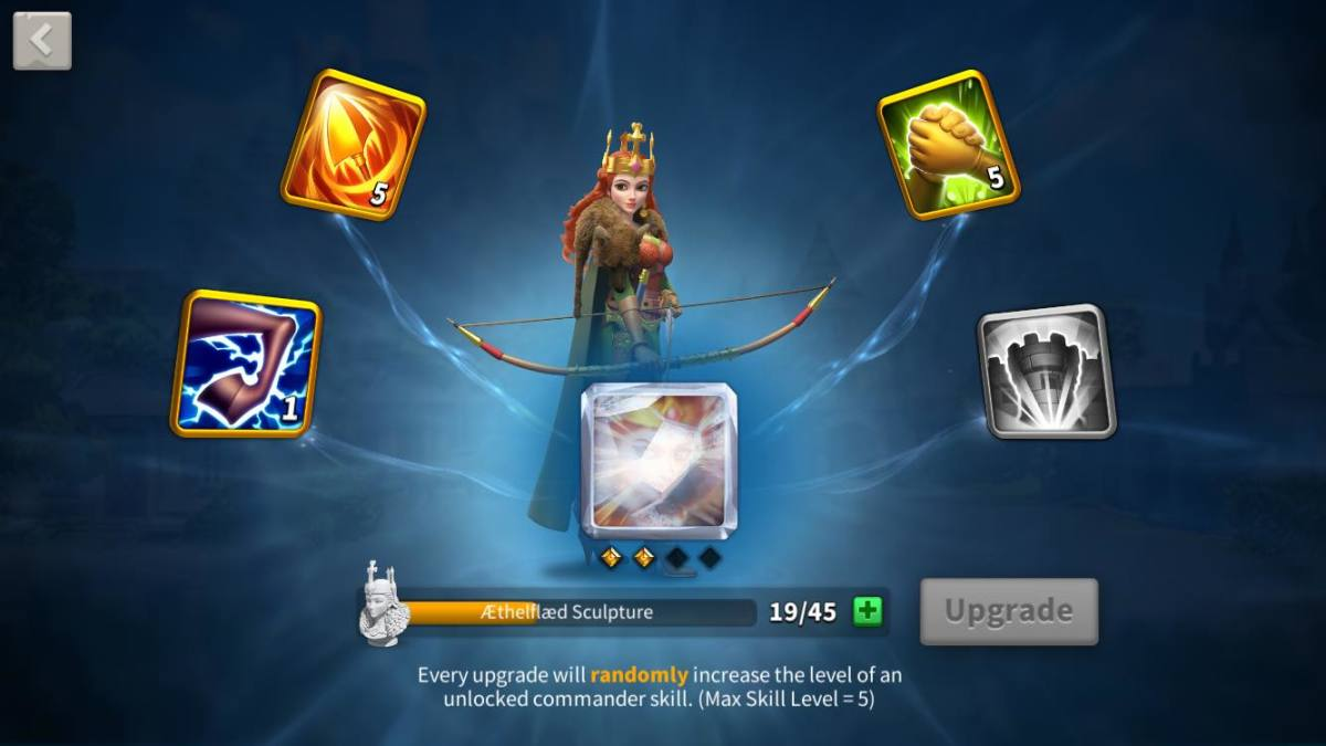 "Aethefaed's Skill Page in ""Rise of Kingdoms"""