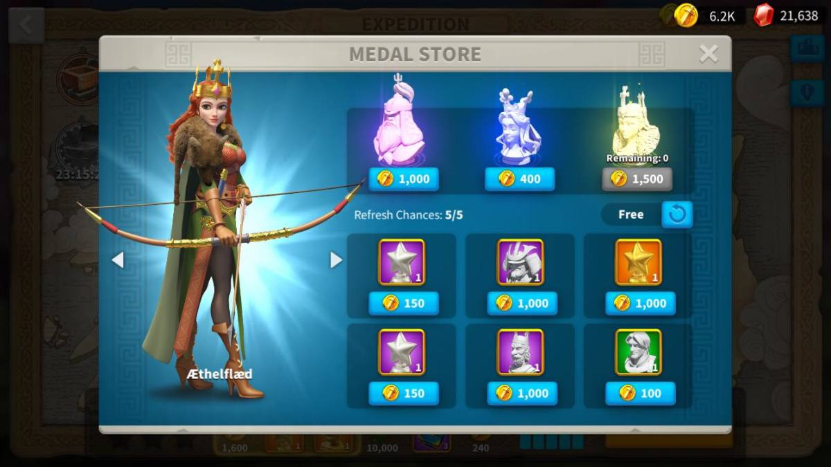 Aethelfaed Sculptures in Expedition's Medal Store