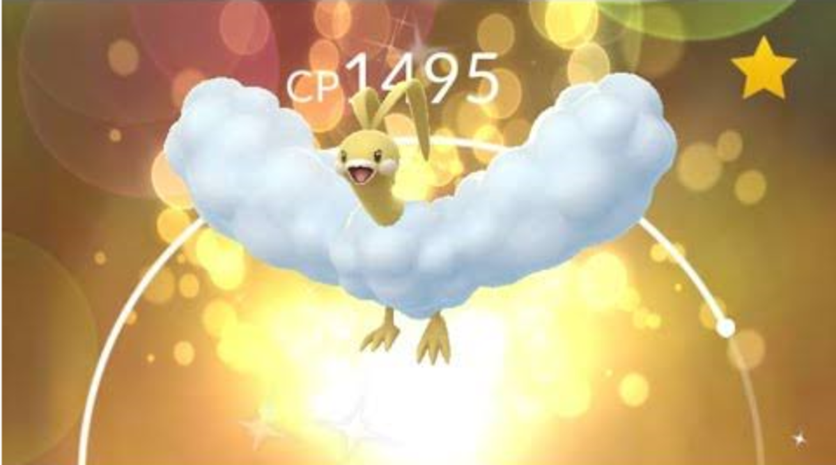 "Lucky Shiny Altaria in ""Pokémon GO"""
