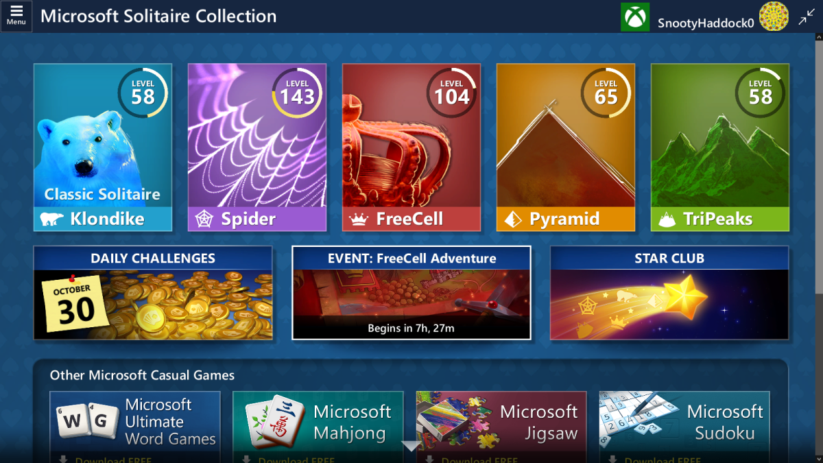 Solitaire Event Page