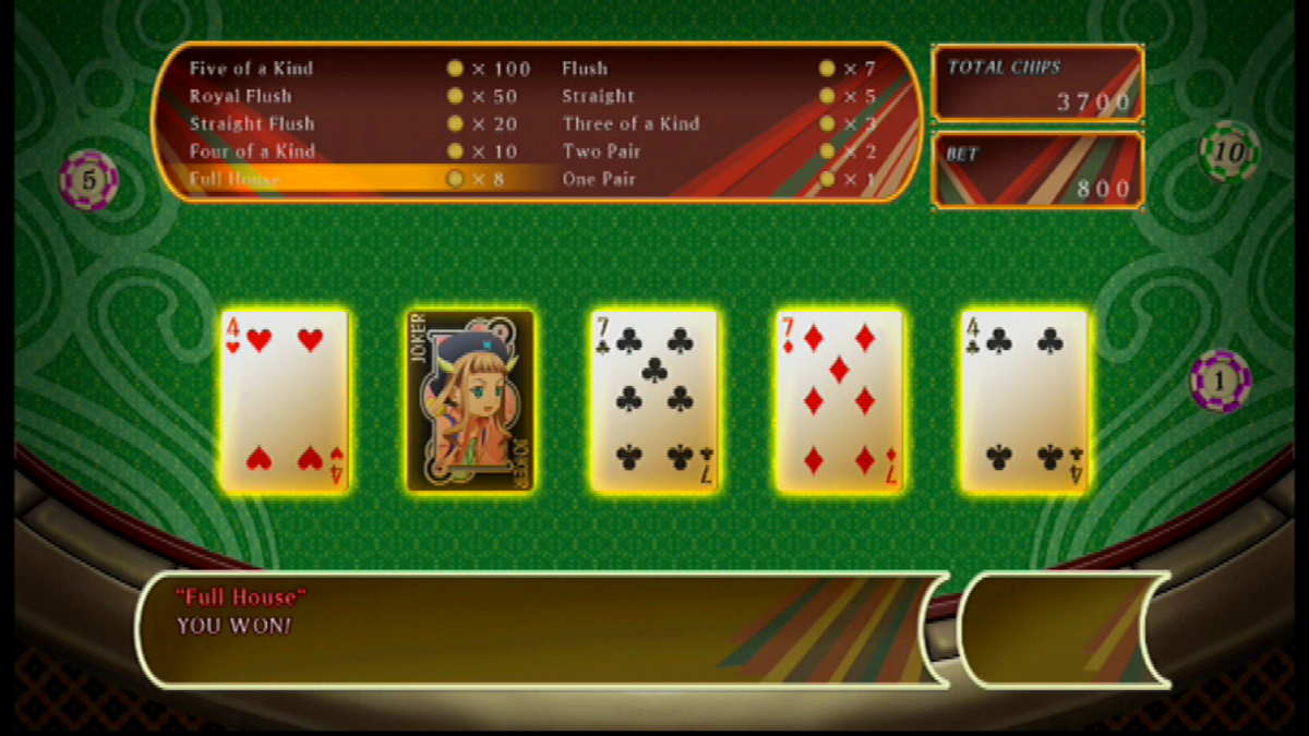 Poker is a fun mini-game that can be used as a distraction from the main narrative. By taking part, players can earn poker chips to unlock new costumes and clothing accessories.