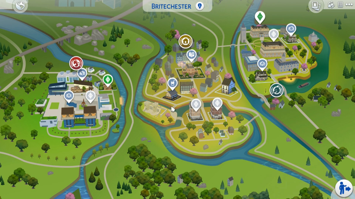 Britechester is the new town in this expansion pack, boasting two campuses and a central town area.