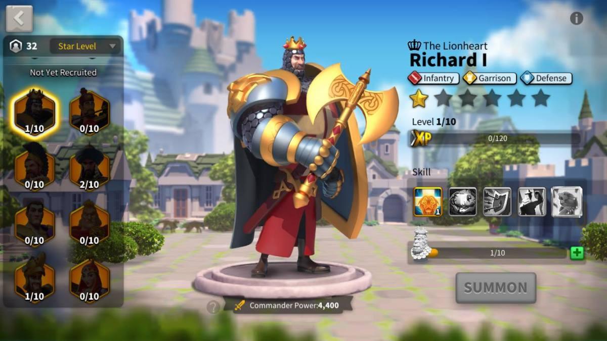 Richard I Commander Page