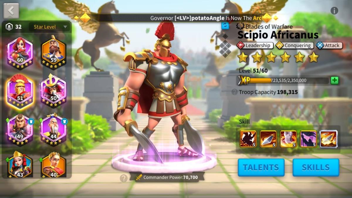 Scipio Africanus Commander Page