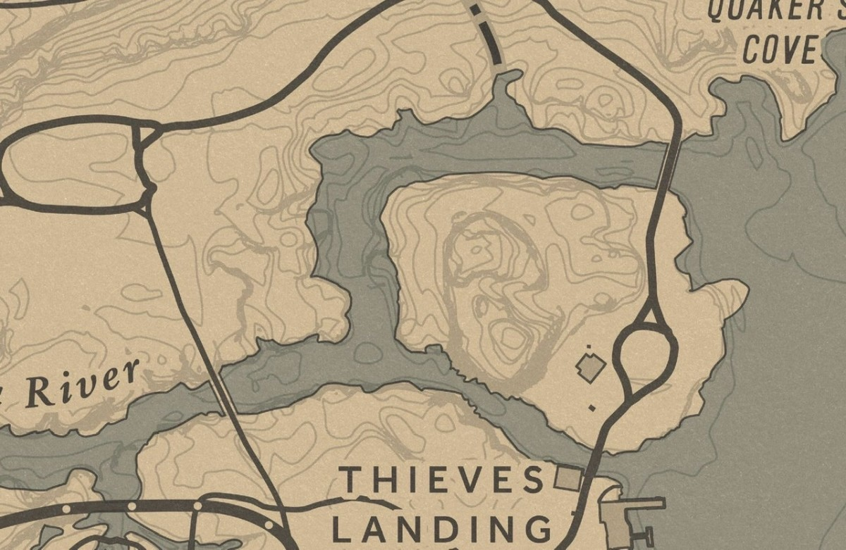 So is this creek north of Thieves Landing.