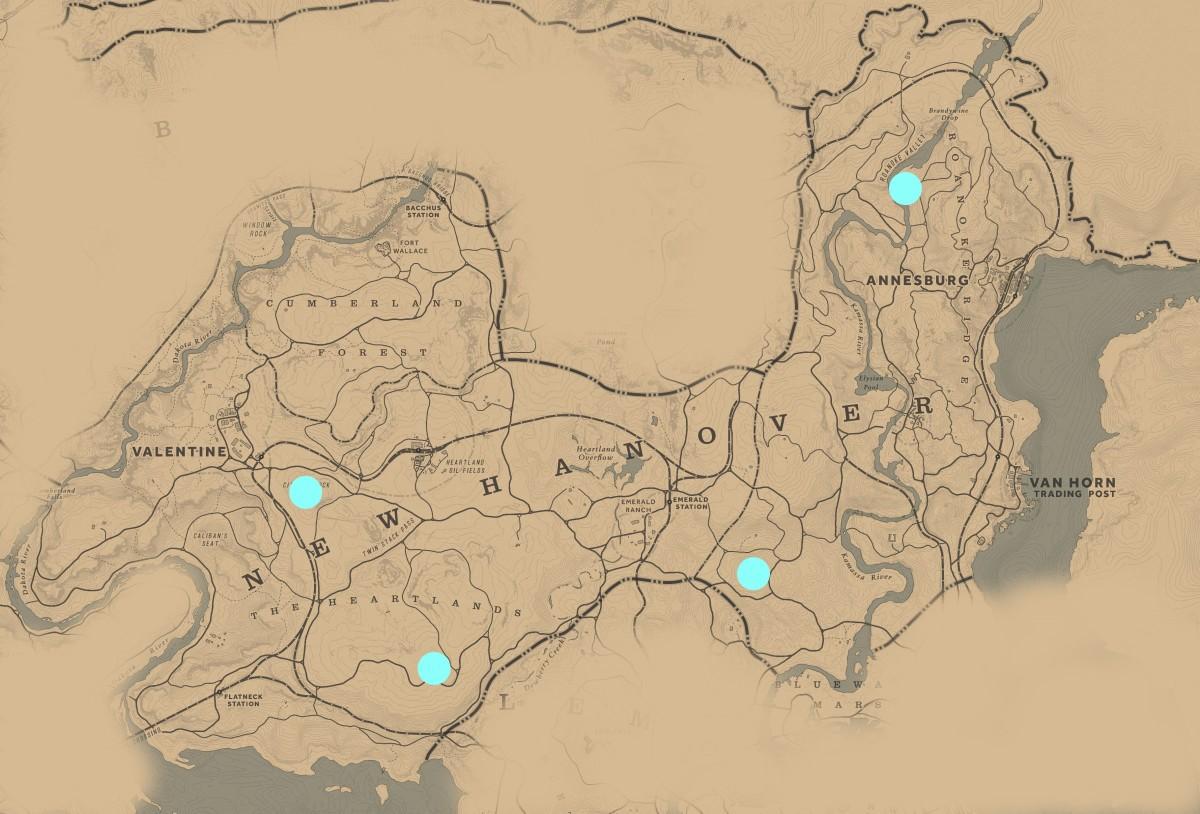 All New Hanover Campsite Defense locations.