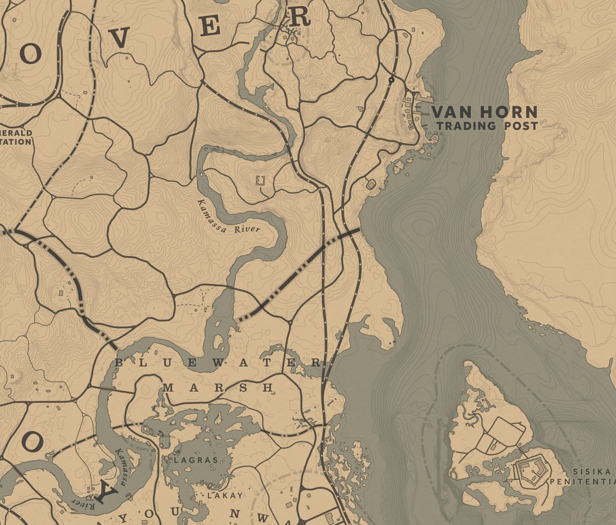 Pretty much anywhere in this screenshot is a good place to find them, though you can find them almost everywhere. You can even fish for them in Lagras, though you're more likely to catch a Bullhead Catfish.