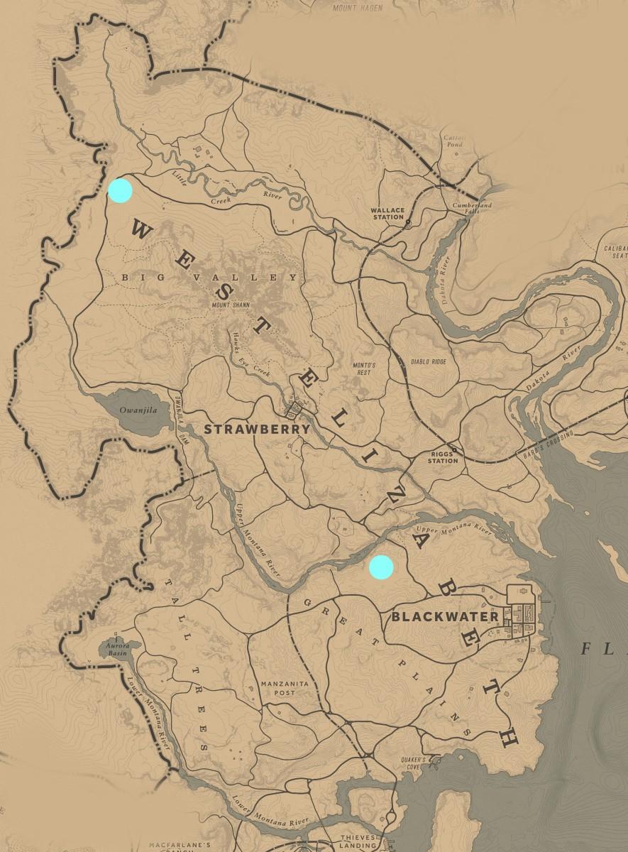 West Elizabeth Campsite Defense locations.