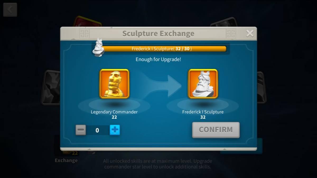 Exchanging Golden Sculptures with Frederick I Sculptures