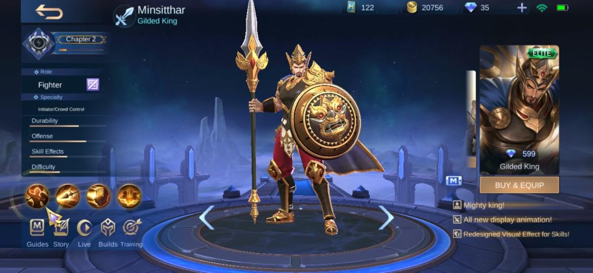 Minsitthar in Gilded King Skin