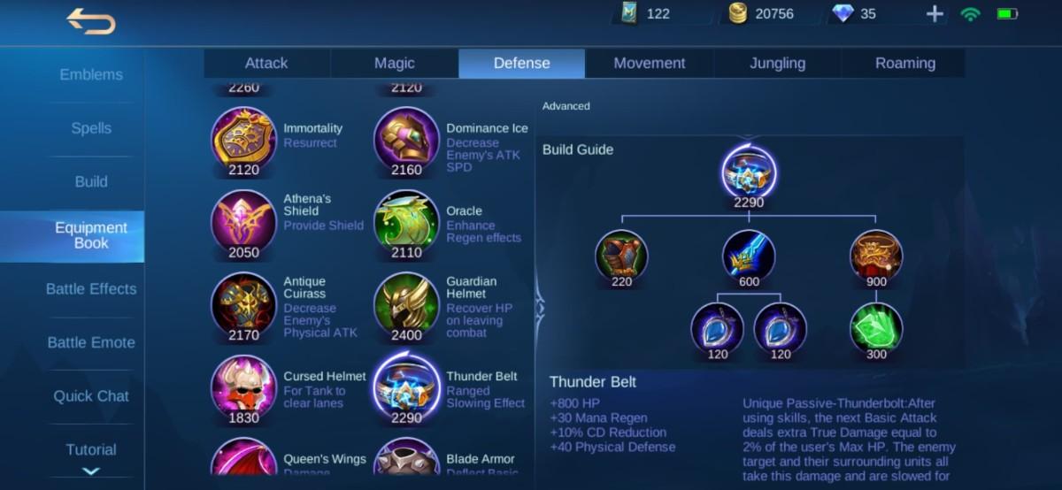 Thunder Belt Equipment Info