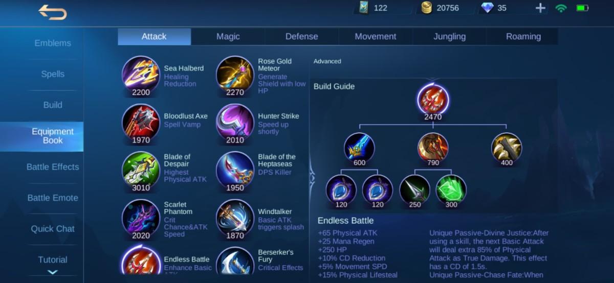 Endless Battle Equipment Info