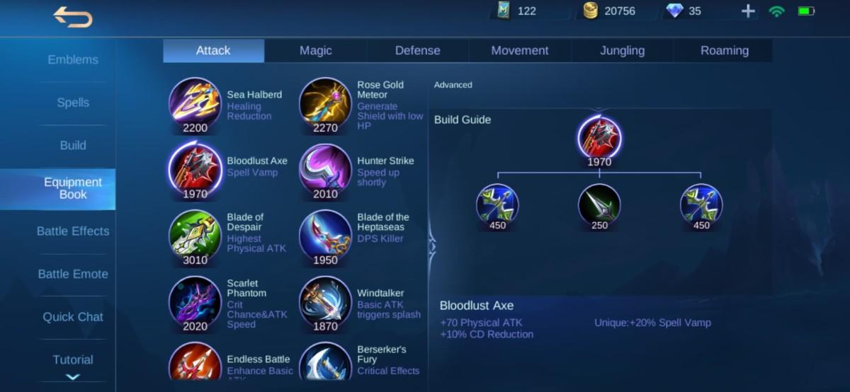 Bloodlust Axe Equipment Info