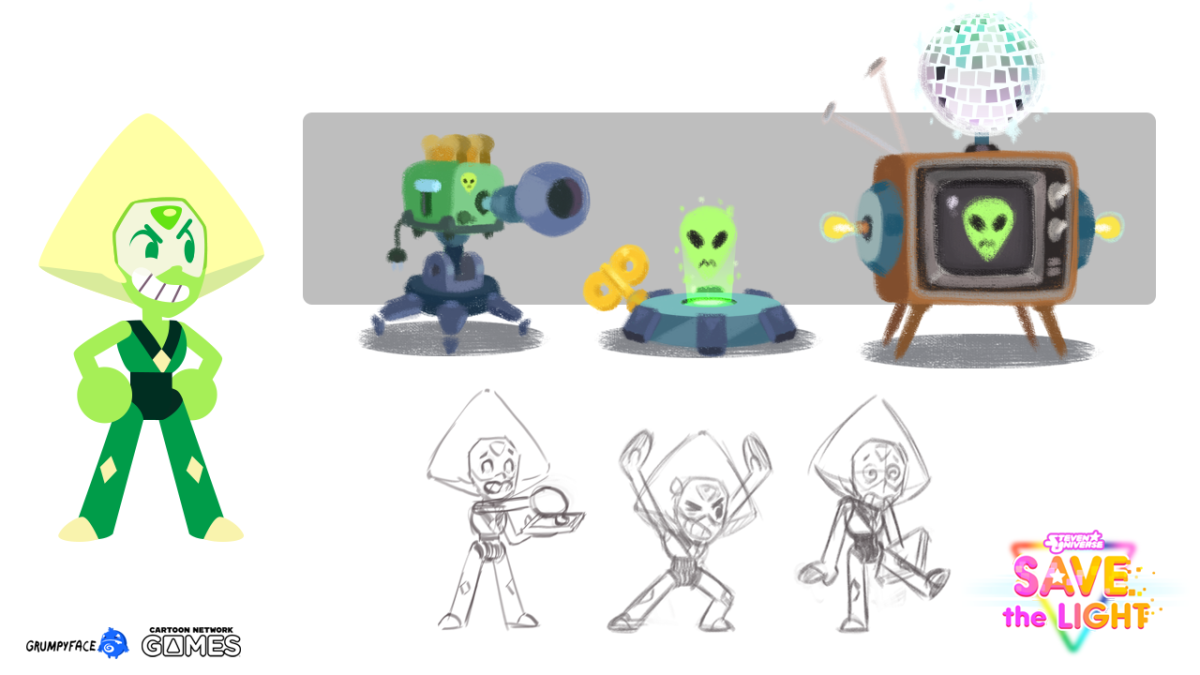 """Official Peridot concept art for """"Save the Light"""""""