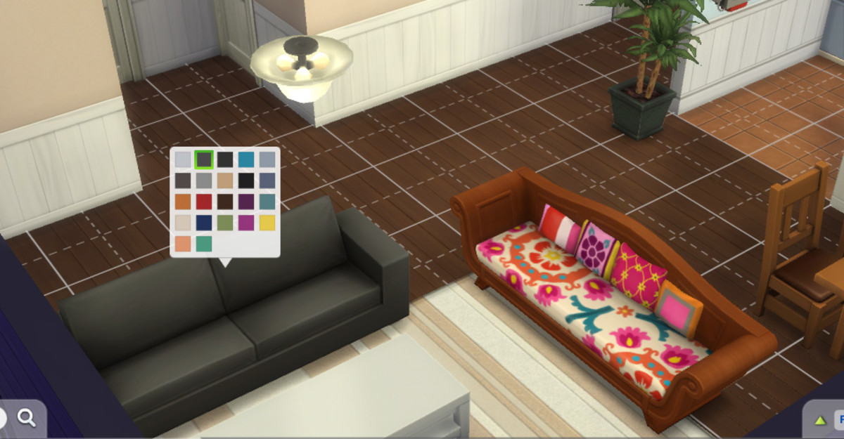 While it's fun to learn how to build elaborate houses, you can just use the design tool to change colors and patterns to give any room a whole new feel. You don't even have to move a stick of furniture.