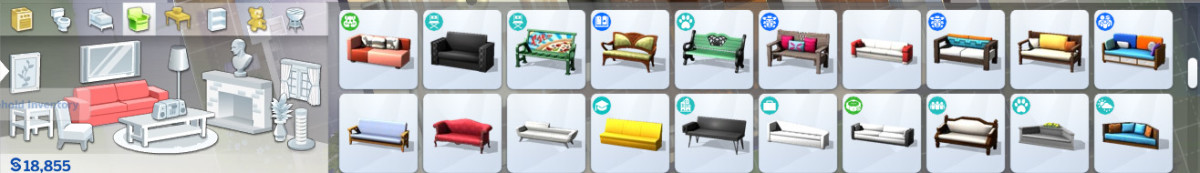 If you're new to build mode, you might be surprised by the large selection of items, colors and patterns.