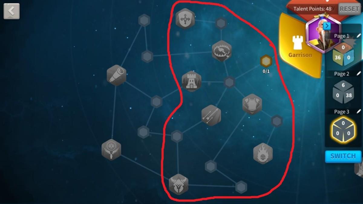 Garrison Talents to Unlock for Constantine I Garrison Defense Build