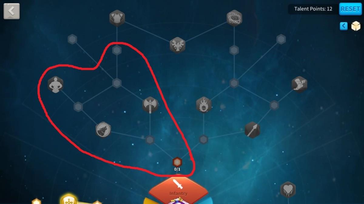 Infantry Talents to Unlock for Constantine I Garrison Defense Build