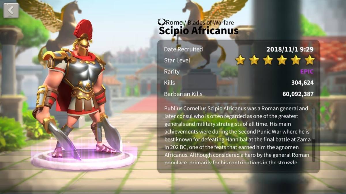 Scipio Africanus Profile Page