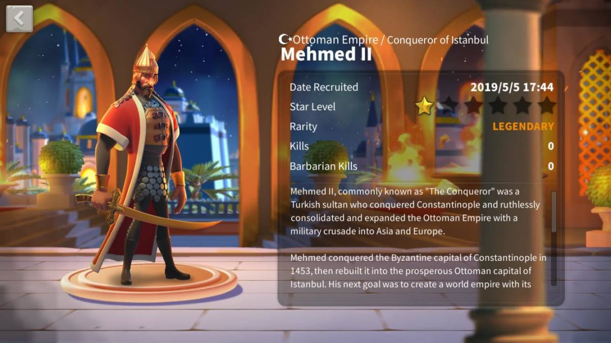 Mehmed II Profile Page