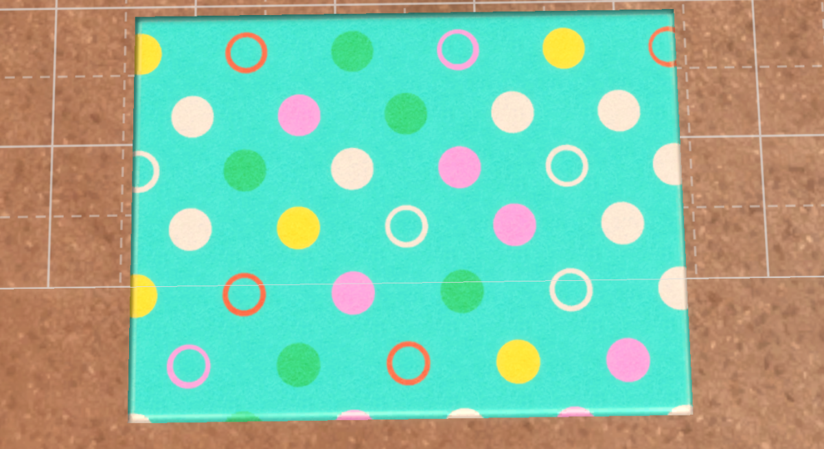 "This colorful rug is from the ""Island Living"" expansion pack, and I am inspired by the cute polka-dots and color palette."