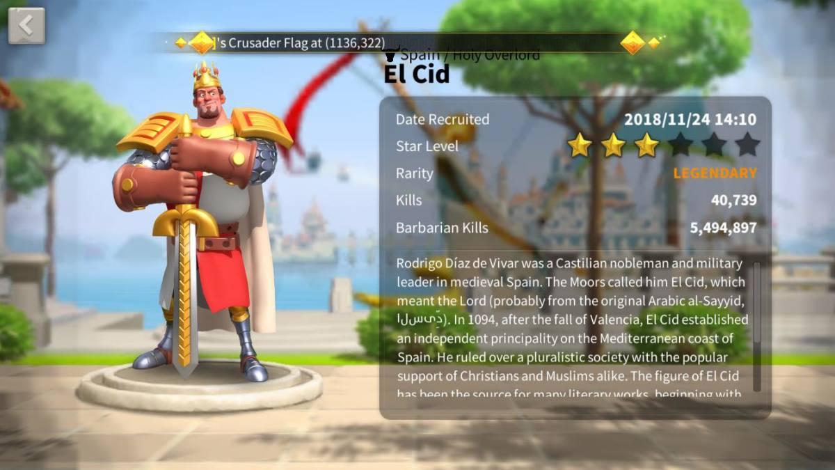El Cid Profile Page