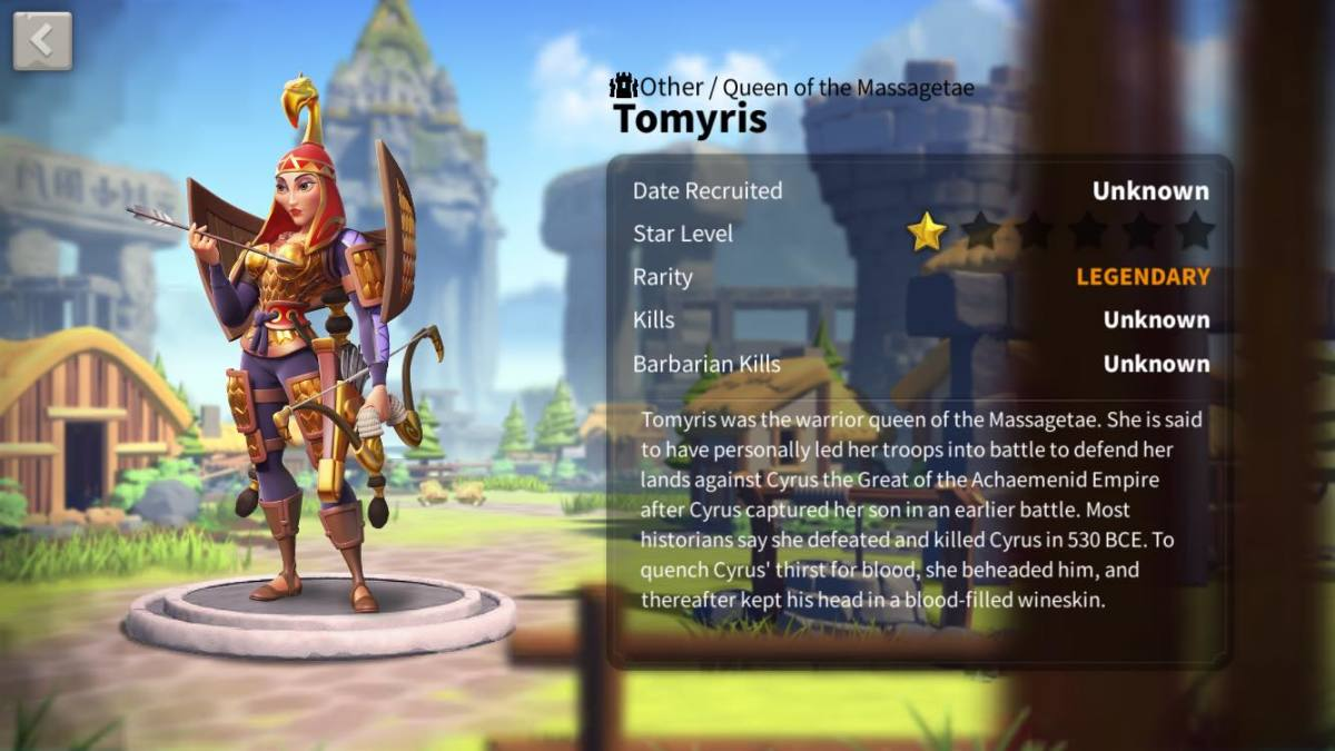 Tomyris Profile Page