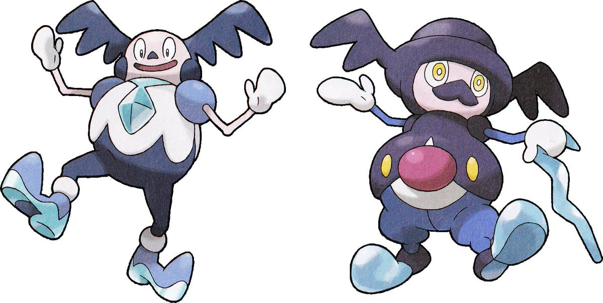 Galarian Mr. Mime and Mr. Rime