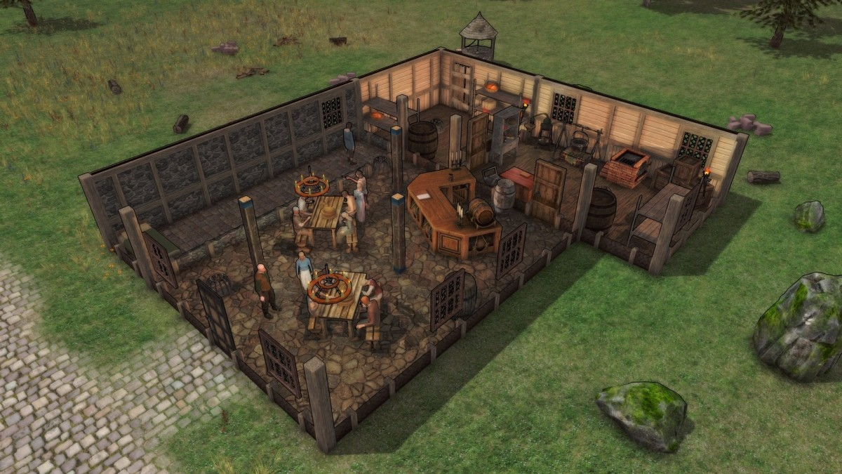 An inn build in the game.