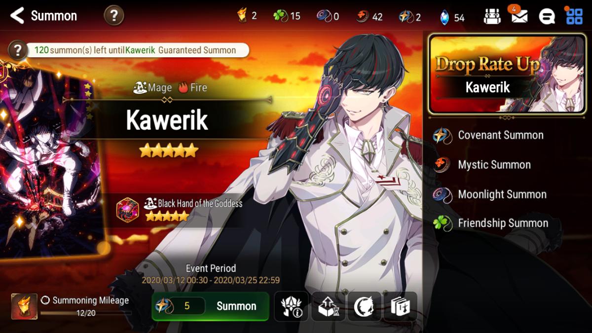 """""""Epic Seven"""" Drop Rate Up Summon Screen for Kawerik"""
