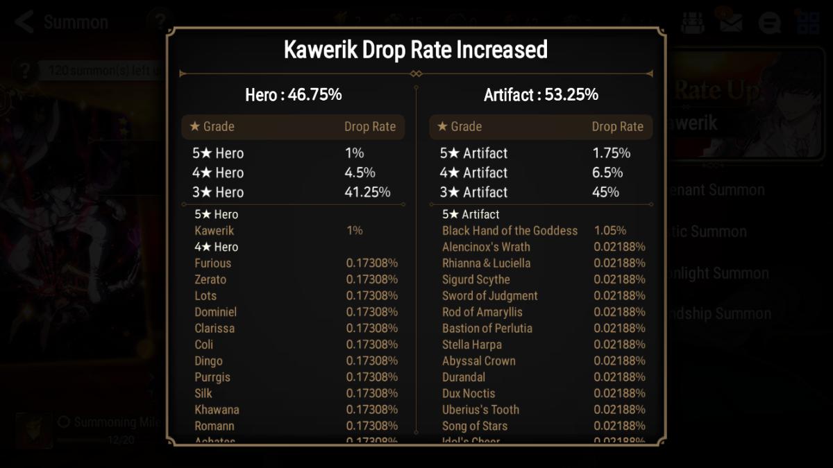 Drop Rate Up Summon Drop Rates