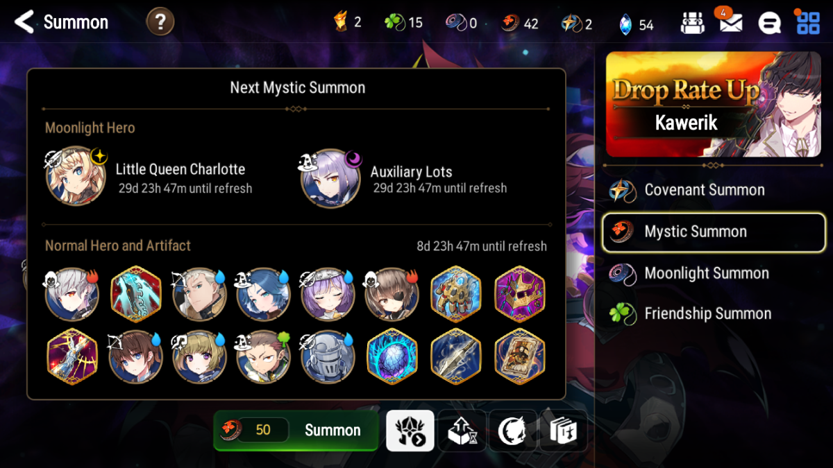 Mystic Summon Upcoming Drops