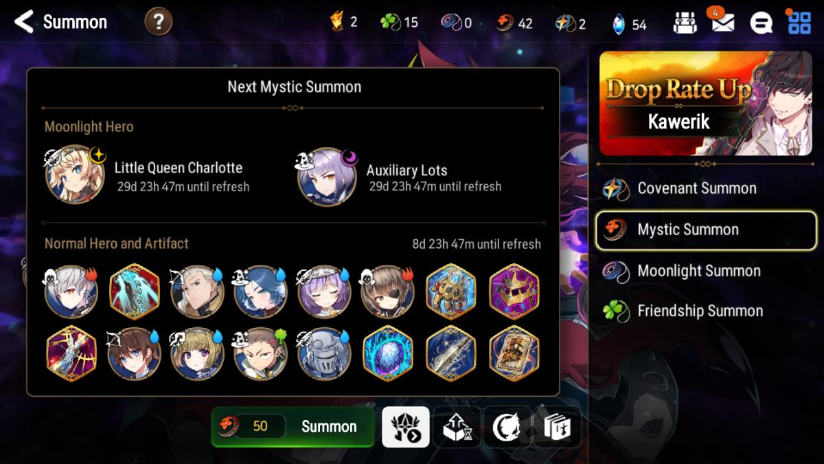 Mystic Summon Upcoming Drops