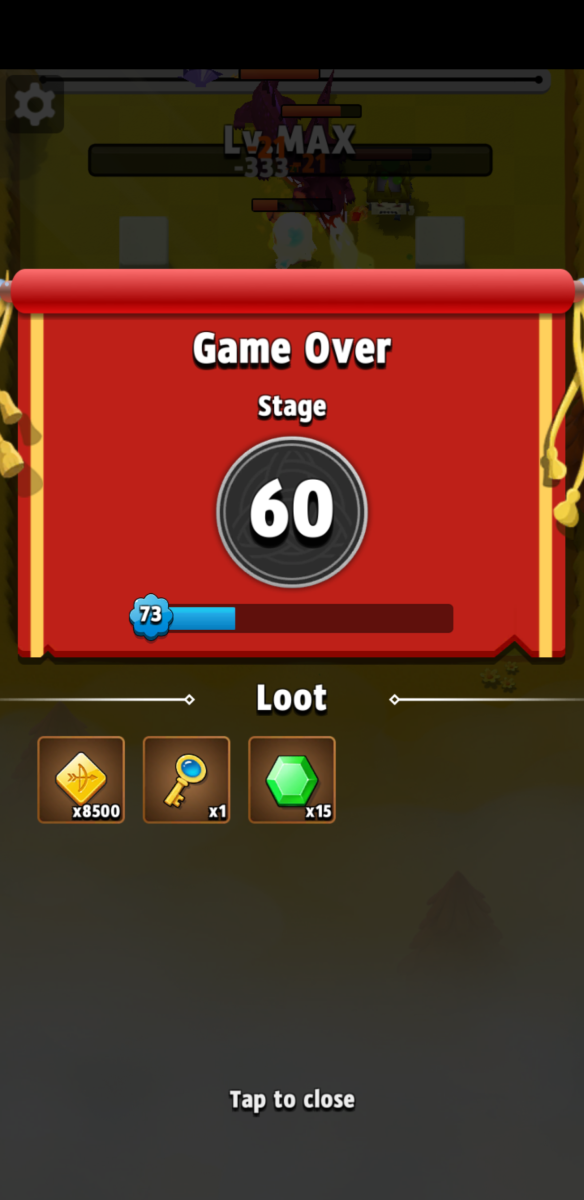 Rewards earned for reaching the 60th floor.