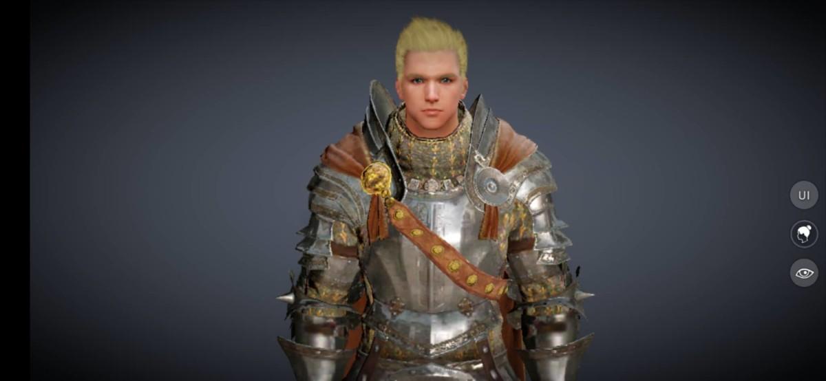 """Warrior Class Profile in """"Black Desert Online Mobile"""""""