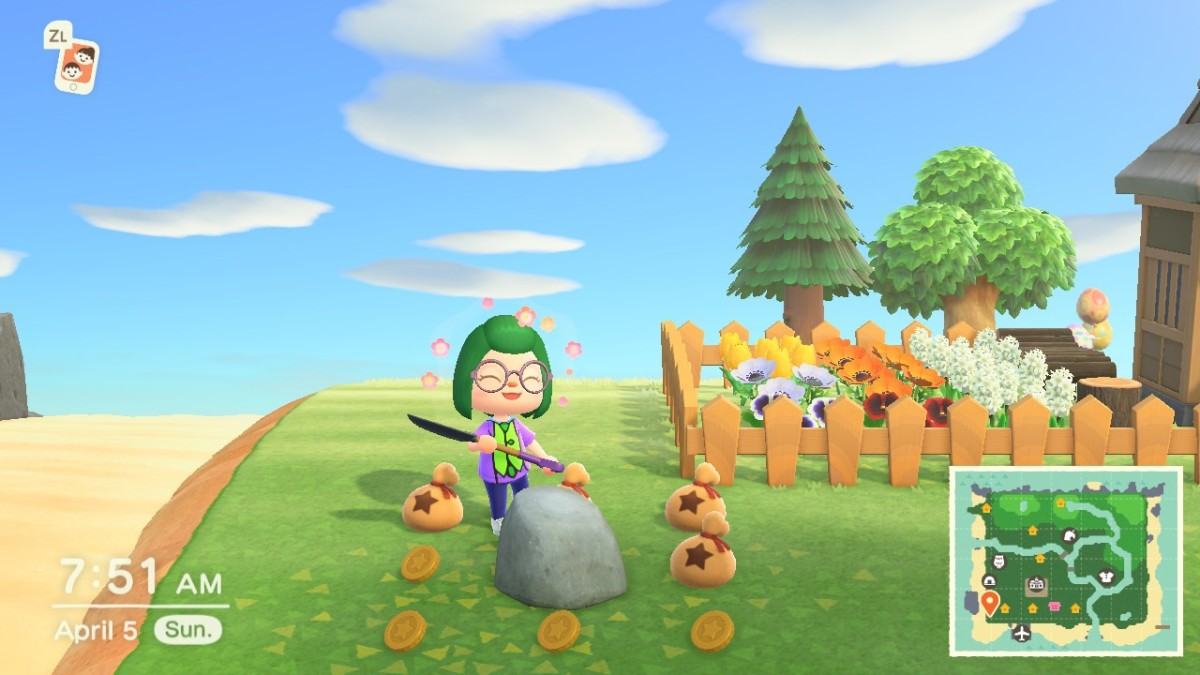 Finding the money rock in Animal Crossing: New Horizons