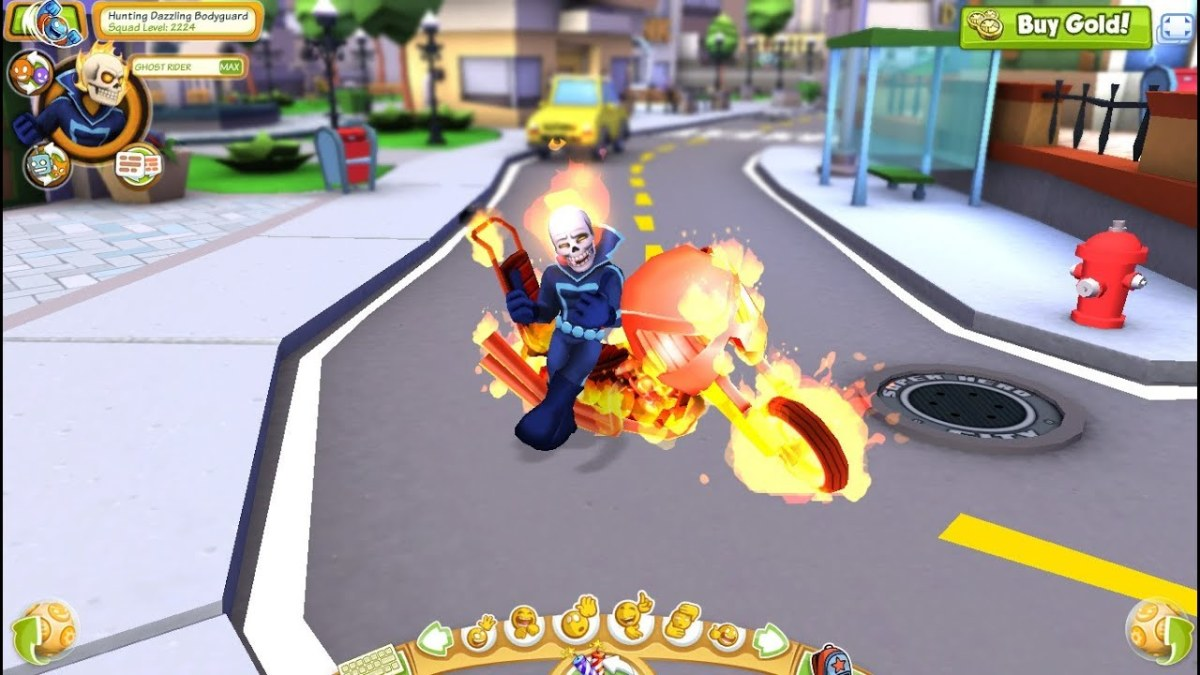 "You can play as a famous Marvel superhero in ""Marvel Super Hero Squad Online."""